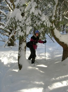 me cross country skiing in Vermont Studios Center February 2011