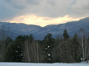 View from Weisner Woods, Stowe VT February 2011