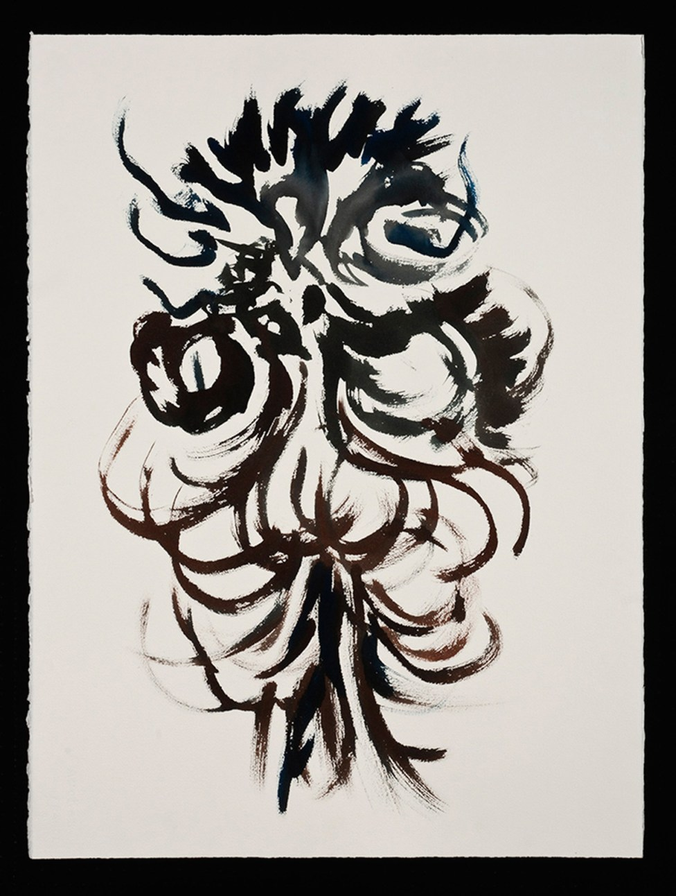 """Goddess for Louise Bourgeois, watercolor on paper, 30 x 22.5"""", 2014"""