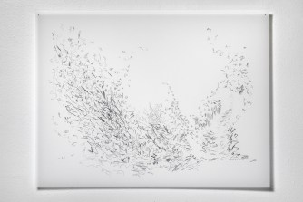"Untitled #23, graphite on vellum, 19 x 24"", 2009"