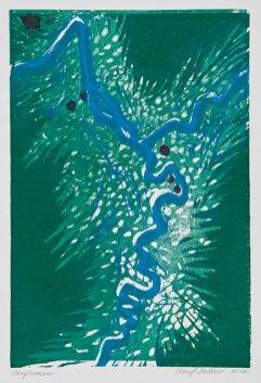"Confluence, monoprint, 11 x 7.5"", 2012"