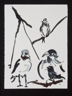 "Birds, 11.4.12.5, watercolor on paper, 30 x 22.5"", 2012"