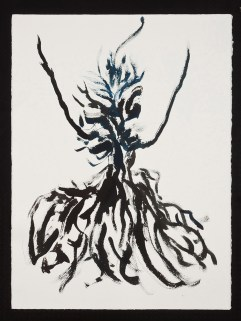 """Goddess Series, 1.22.14.1, watercolor on paper, 30 x 22.5"""", 2014"""