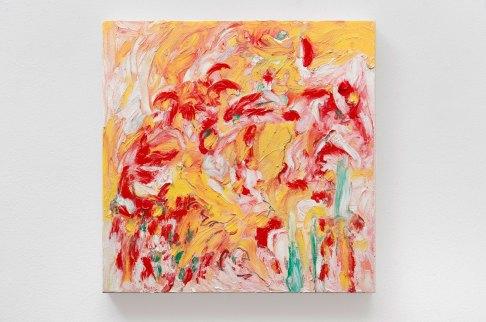 "Yellow #8, oil bar & graphite on panel, 12 x 12"", 2015"