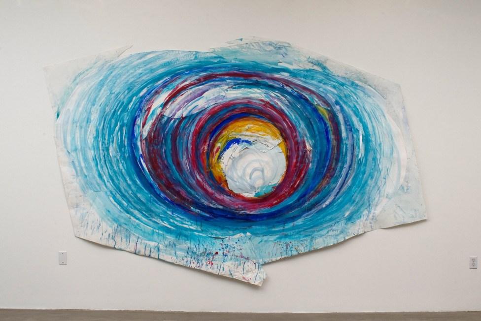 """Vortex, collaged acrylic & graphite on paper, 88 x 136"""", 2008"""