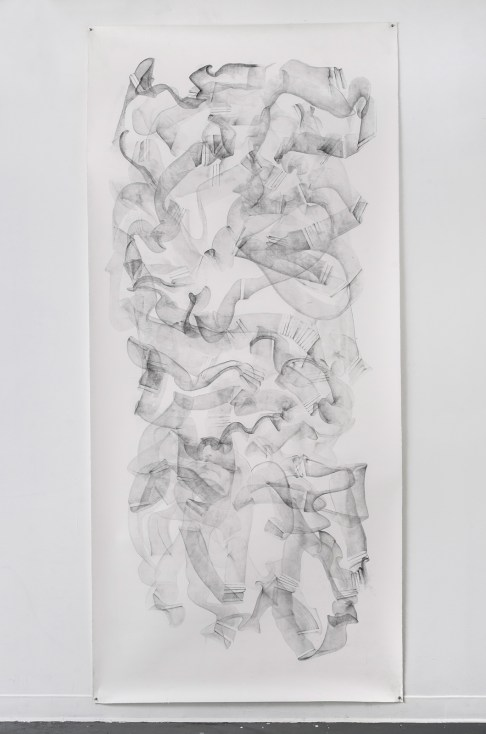 """For Emilie II, graphite on paper, 108 x 50"""", 2014"""