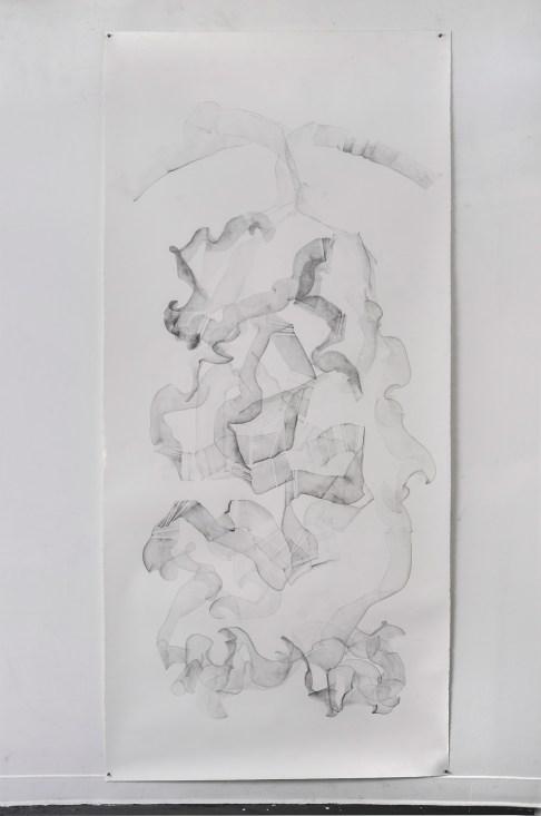 """For Emilie V, graphite on paper, 108 x 50"""", 2014"""