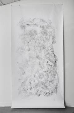 "For Emilie VII, graphite on paper, 108 x 60"", 2014"