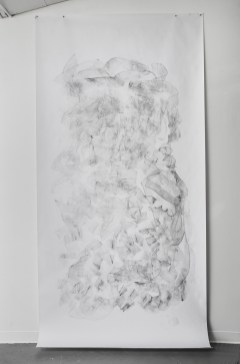 """For Emilie VII, graphite on paper, 108 x 60"""", 2014"""
