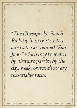 """From brochure:  """"Chesapeake Beach, The Railway & Resort"""", c.1900"""
