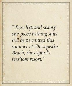 """Venus Costumes at Chesapeake Beach"", Asbury Park Press, NJ p.1, May 25, 1920."