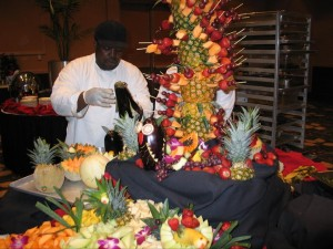 Tabletop Fruit and Cheese Display - Chesapeake Conference Center