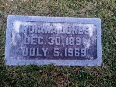Indiana Jones is buried in Berlin MD. Who knew?