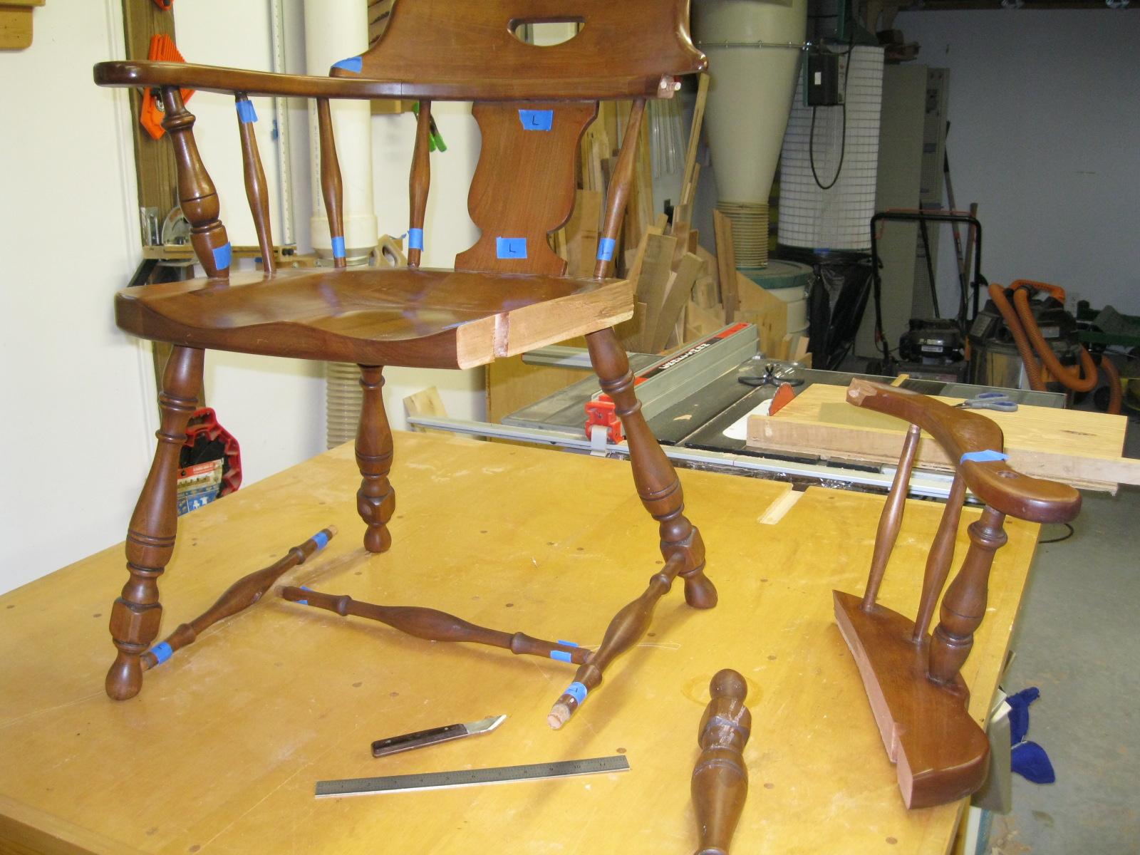 Chair Repair Part 1  Chesapeake Woodworking