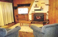 Lounge room with wood fire