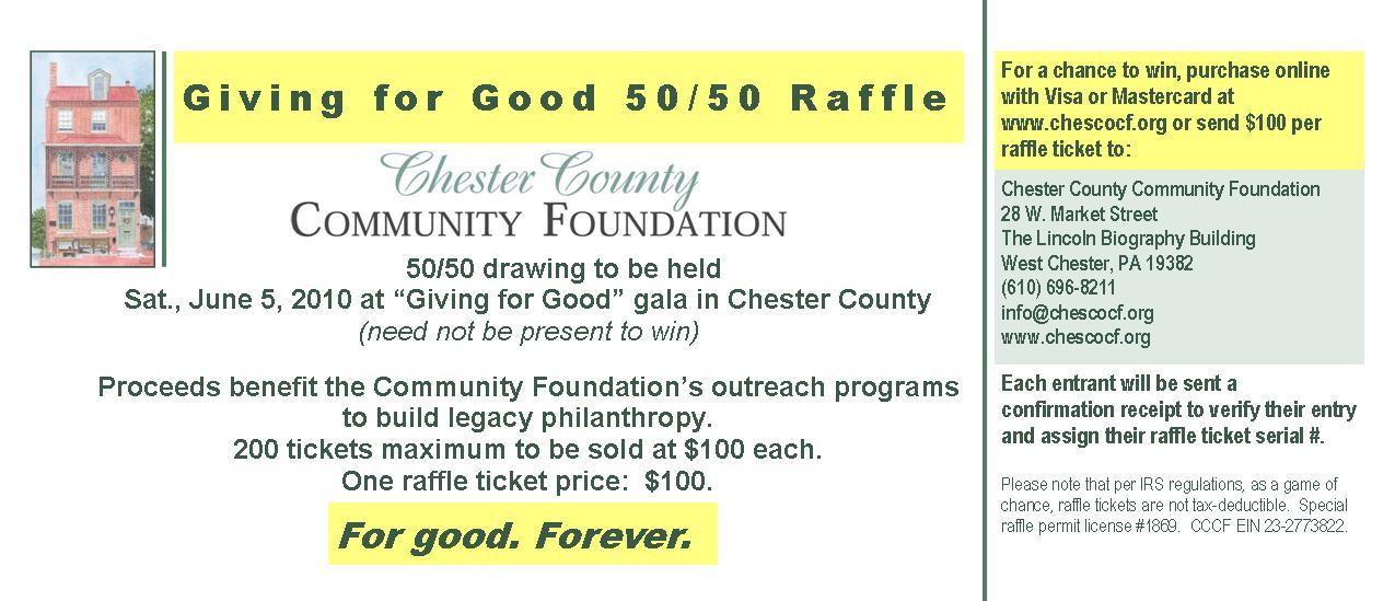 5050 Raffle  Chester County Community Foundations Blog