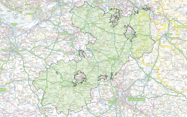 Map East Cheshire