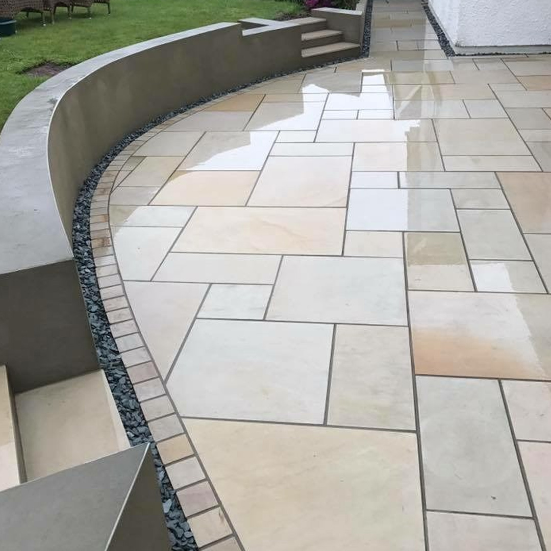 Mint Smooth Sawn & Honed Mixed Size Patio Packs - £445 inc VAT & FREE  Nationwide Delivery - Cheshire Sandstone