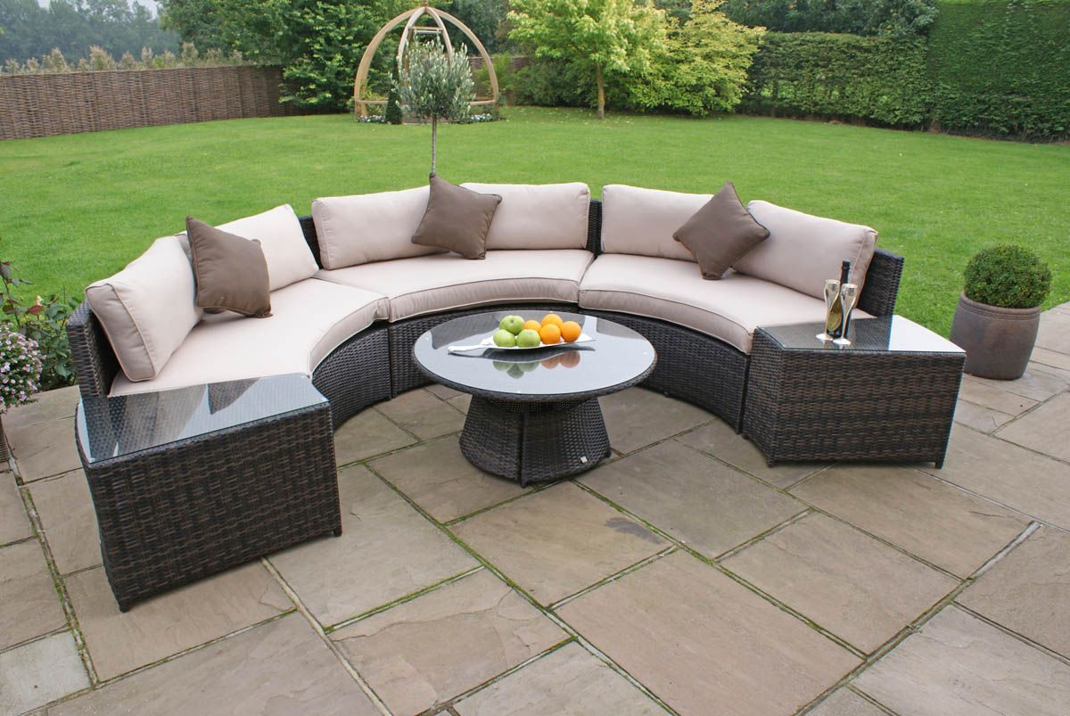 maze rattan half moon sofa set grey polaris mini sectional cheshire sandstone