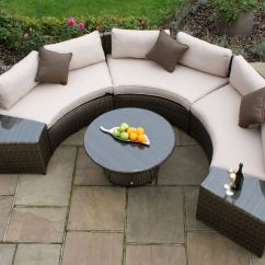 Maze Rattan Half Moon Sofa Set Grey Sectional Leather Sofas Toronto Cheshire Sandstone
