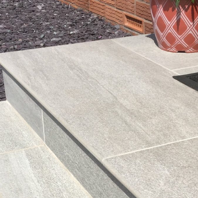 porcelain bullnose steps 900x450x20mm in stock now