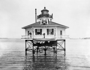 Great Wicomico River Lighthouse 1915 - Photo Courtesy U.S. Coast Guard