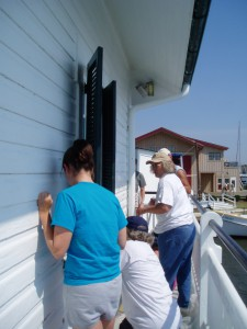 Photo by Anne Puppa Volunteers painting Hooper Strait.