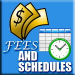 Fees and Schedules