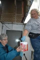 Lauren and Barbara painting in fidley.