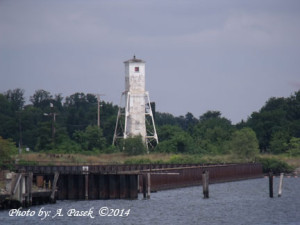 Craighill Channel Upper Range Rear Lighthouse at Sparrows Point. Photo by: A. Pasek