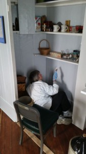 Virginia paints pantry wall