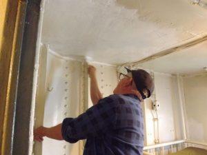 Hobie painting crews cabin.
