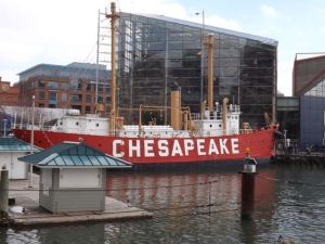 Lightship Chesapeake in Baltimore's Inner Harbor.