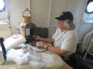 Lauren cleaning light