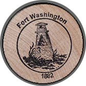 2005 Wooden Coin Souvenir-Fort Washington