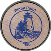 2005 Wooden Coin Souvenir-Piney Point