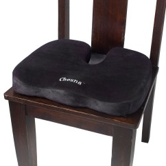 Black Chair Pads Baby Sitting With Wheels Comfort Foam Seat Pillow  Chesna