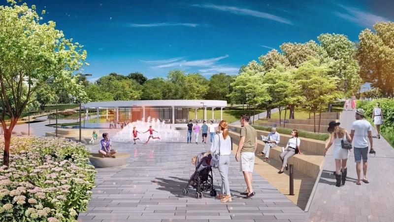 В парке у ДТЮ сделают второй вход и благоустроят набережную