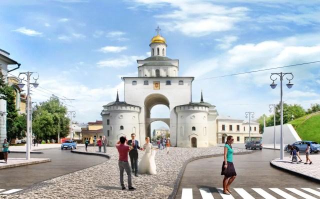 Золотые ворота пешеходка