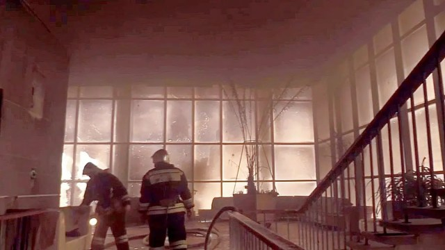 Пожар драмтеатр