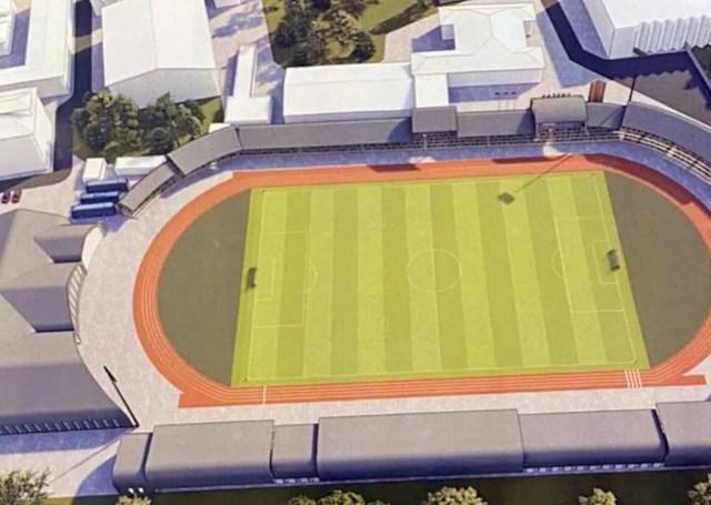 Стадион Лыбедь проект