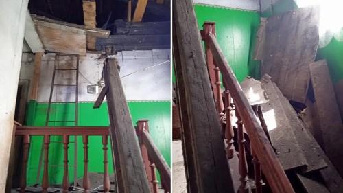 В центре Юрьев-Польского в жилом доме рухнул потолок