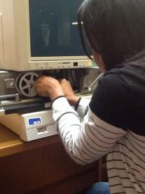 #ChesnuttArchives Student Spotlight | Shayla Boyd Demonstrates How to Use Microfilm Machine (10.15.2014)