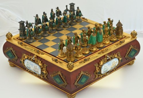 Bejeweled Hungarian Mint Chess Set