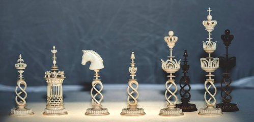 Danish Style Selenus Twisted Rope Chessmen