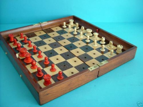 Large Jaques Status Quo Portable Chess Set