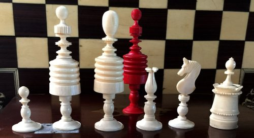 Type II Barleycorn Chess Set,