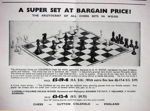 Baruch Harold Wood Antique Chess Set, Ebony
