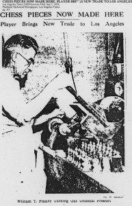 William T. Pinney Antique Chess Set