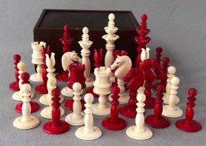 Antique Floral Top Calvert Chessmen
